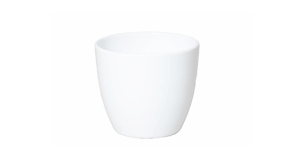 2 stuks Pot boule d17.5 h15cm wit es/15