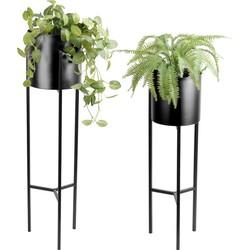 Plantenstandaard Lily zwart - Lifa Living