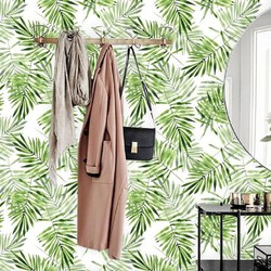 Zelfklevend behang Palmblad groen wit 2 60x244 cm