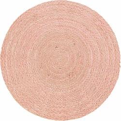 Vloerkleed Medan roze rond 150cm