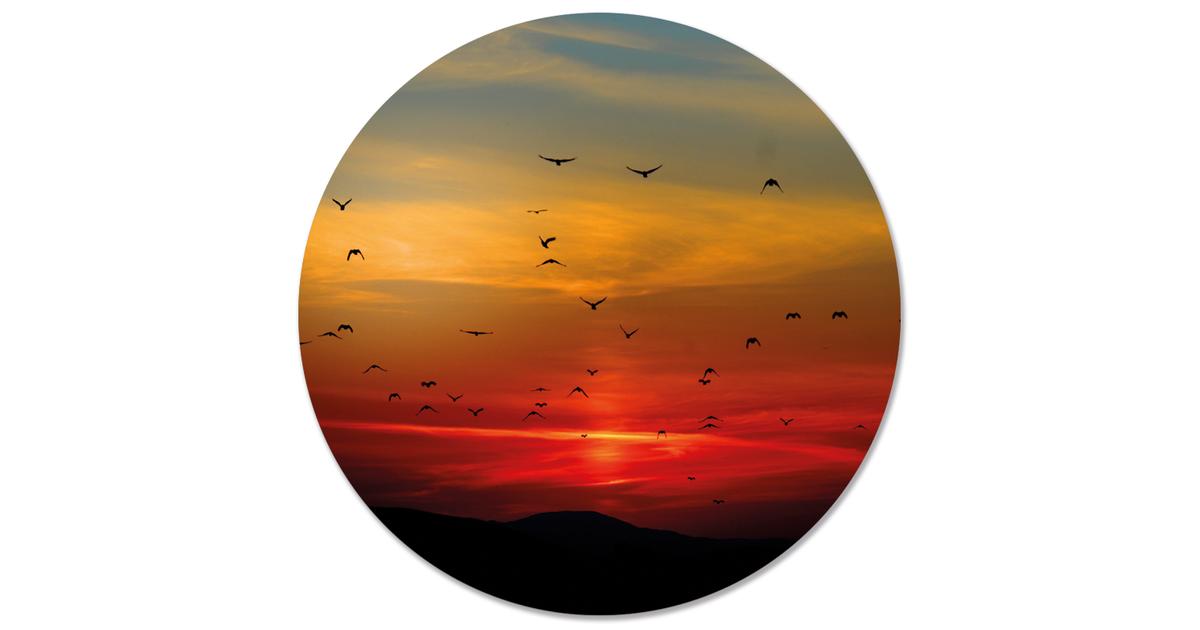 Muurcirkel klein sunset rood - Ø 20 cm