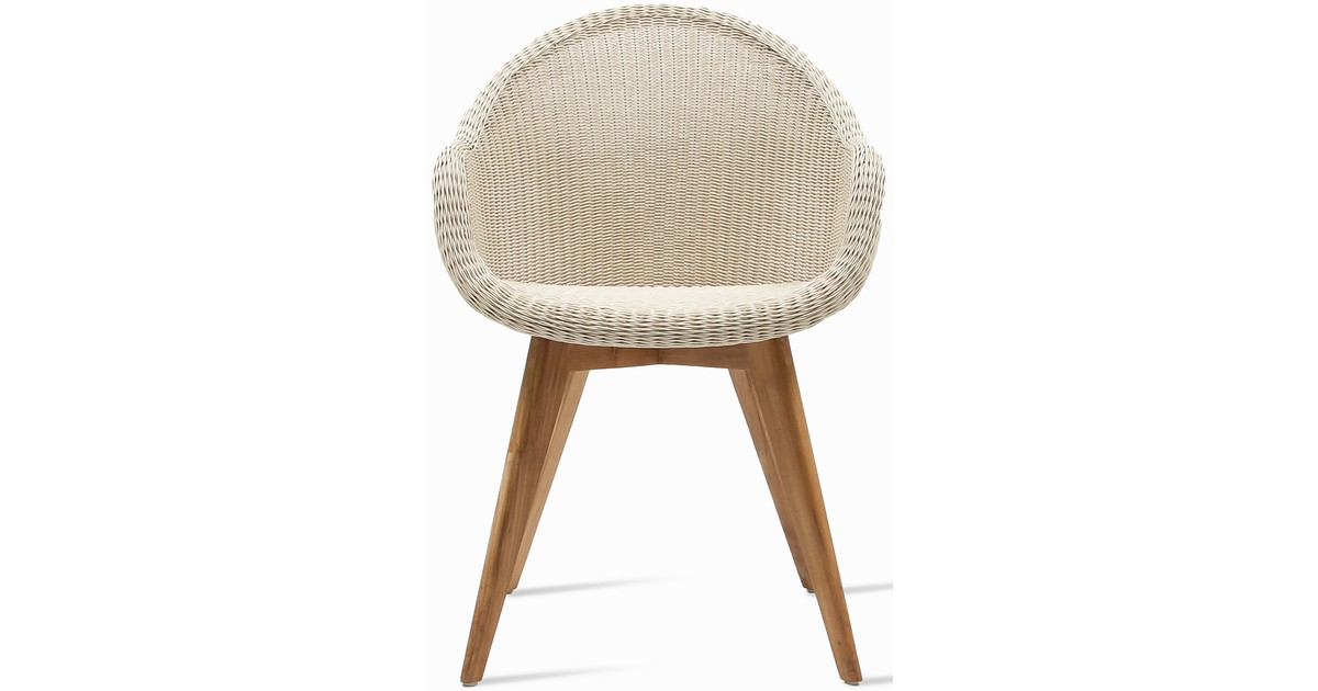Vincent Sheppard Edgard Dining Chair - Wicker Tuinstoel Old Lace - Inclusief Zitkussen