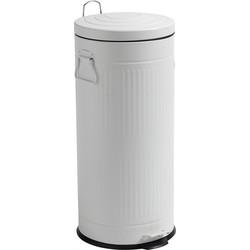 Nordal Denmark prullenbak van ijzer 30 liter, wit