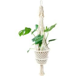 Grote macramé plantenhanger - Gevlochten