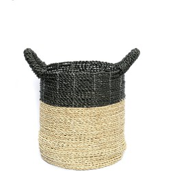 The Striped Basket - Natural Black - S