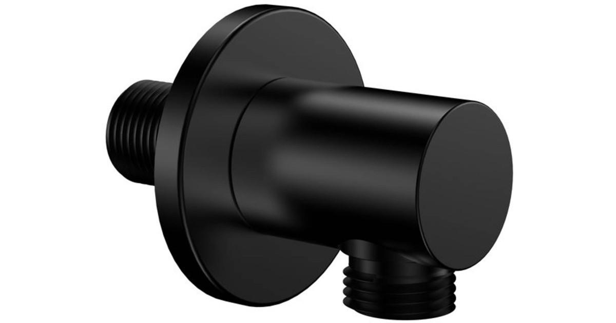Saqu Douche-aansluitstuk 6x6,3x6 cm Zwart Mat