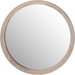 spiegel nadine hout white wash ø35