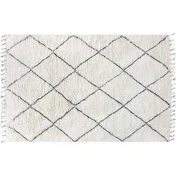 vloerkleed wol wit l 200 x 300