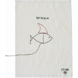 Lemonwise Katoenen poster Be Brave - limited edition -