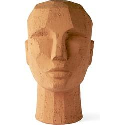 HKliving abstract hoofd sculptuur terracotta