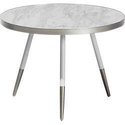 Salontafel wit/zilver RAMONA