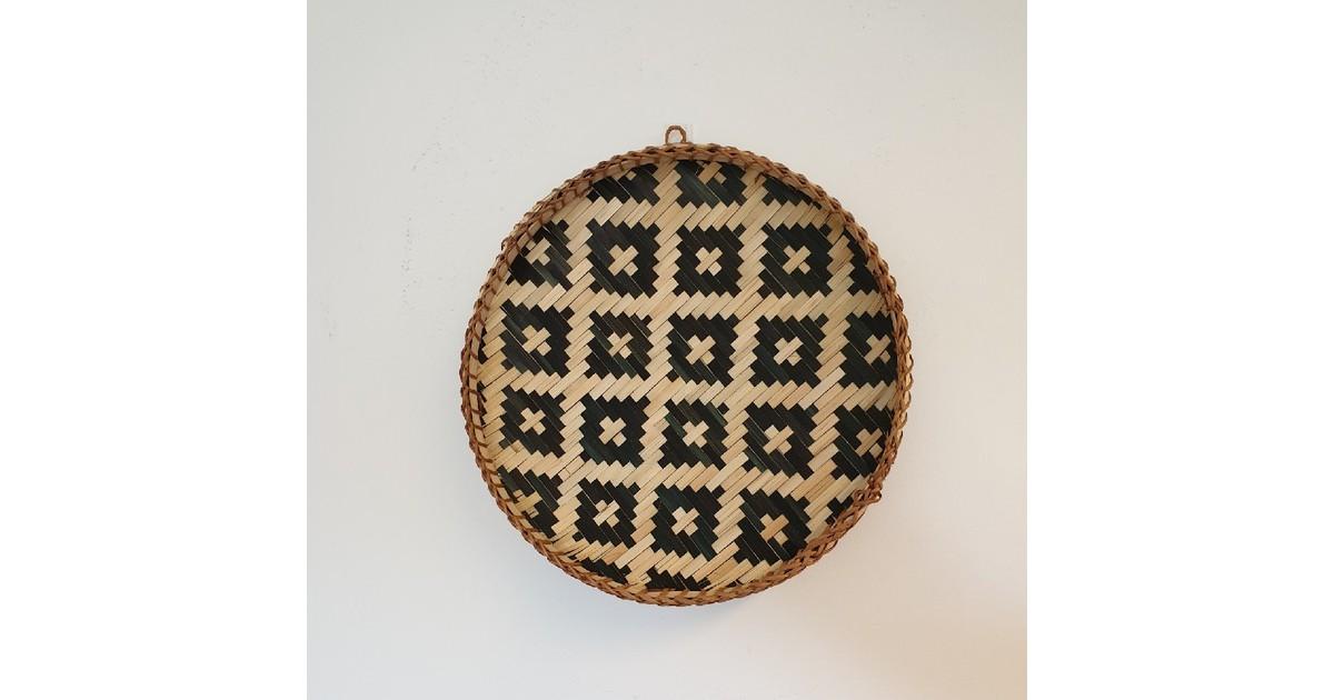Bamboe wanddecoratie basket- mand 44,5 cm
