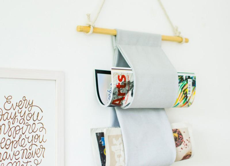 DIY: minimalistische canvas tijdschriftenhanger