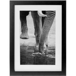 Schilderij Elephant zwart 30x40cm