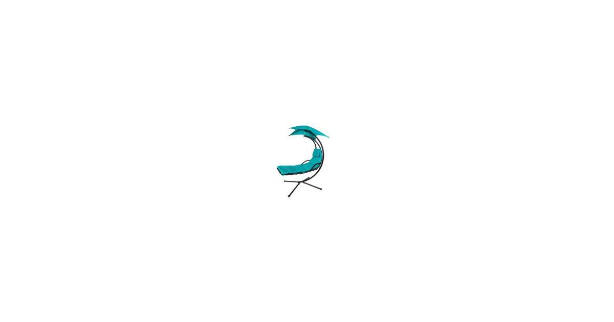Schommelstoel - Ligbed - Schaduwzeil - Turquoise - 170x210x100 cm