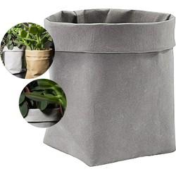 QUVIO Plantenzak uitwasbaar 7,5 x 7,5 x 12 cm (lxbxh) grijs