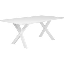 Eettafel wit 180 x 100 cm LISALA