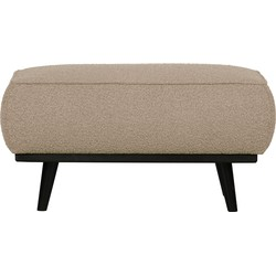 BePureHome Statement Hocker - Bouclé - Beige - 40x80x55