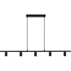 Hanglamp ROKUSINA - Zwart - 5-Lichtpunten