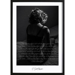 She Was Beautiful Quote Poster (70x100cm)