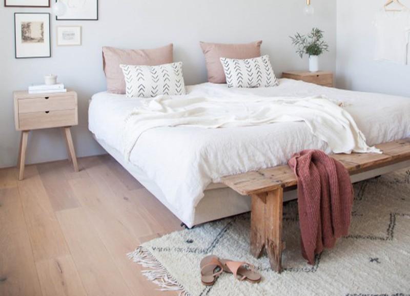 4x zo style je een bankje aan het voeteneind van je bed