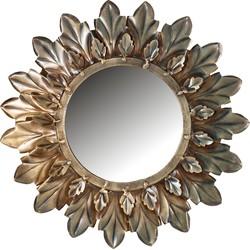 Sunshine Spiegel Metaal Antique Brass Ø27cm