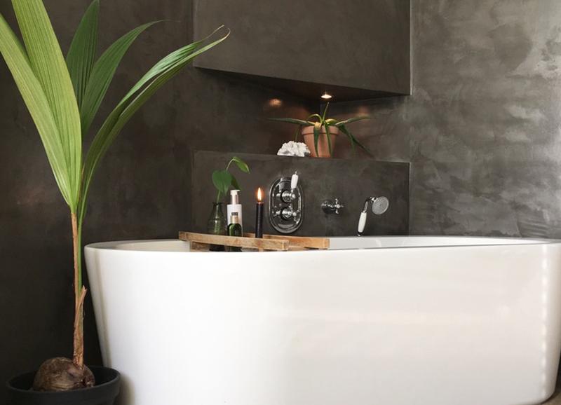Inspiratie: 10 badkamers met een donkere muur