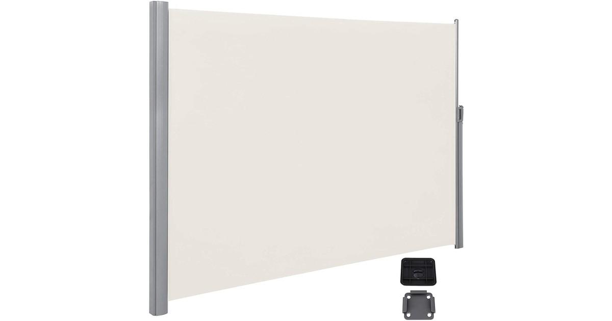 Nancy's Tysons Zijluifel - Zonwering - Privacyscherm - Uittrekbaar - Aluminium - Polyester - Taupe/B