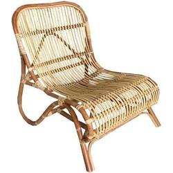 Rotan wave lounge stoel