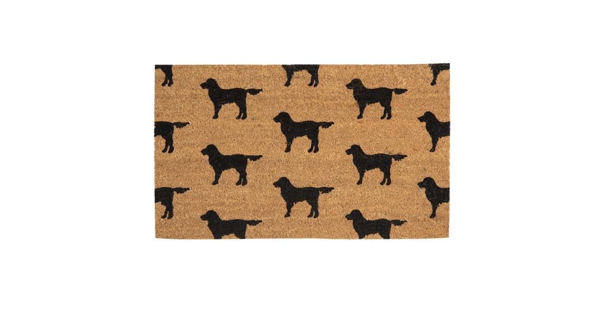 Clayre & Eef Clayre & Eef - deurmat 75*45*1 cm - bruin - kokos / pvc - rechthoekig - honden - MC158