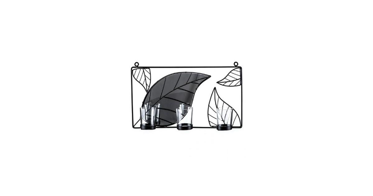 Wandkandelaar met spiegel Tropical - 37cm