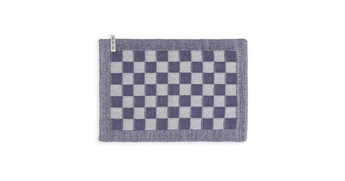 Knit Factory Placemat Block - Ecru/Violet - 50x30 cm