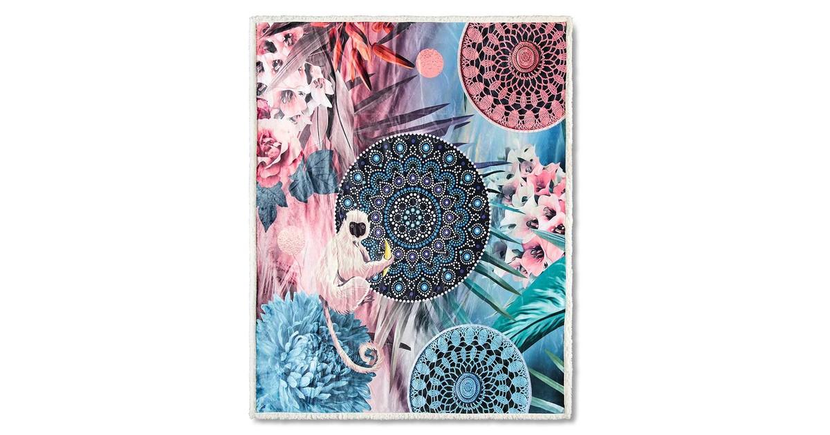 Leen Bakker HIP plaid Zoya multikleur 130x160 cm online kopen