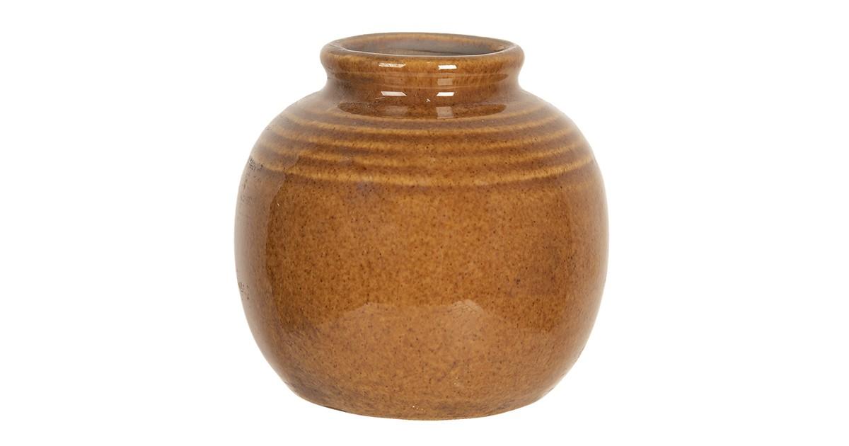 Clayre & Eef Vaas - Ø 8*8 cm - bruin - keramiek - rond -  - 6CE1212