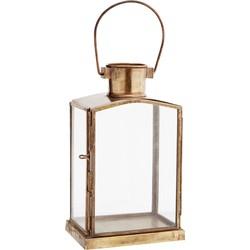 lantaarn glas antiek brass 17,5 x 10 x 7