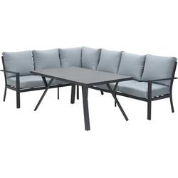 Garden Impressions Senja lounge dining set 3delig links - mint grijs