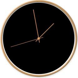 Klok zwart -  / koper