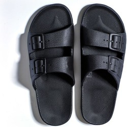 "Freedom Moses ""Slippers Black"" Zwart - 36-37"