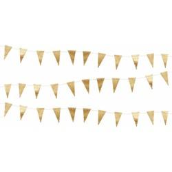 Delight Department  Mini vlaggetjes slinger - Goud | 3 m
