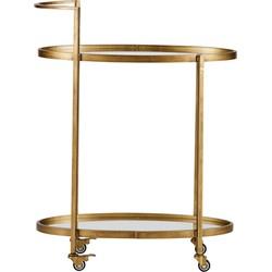 BePureHome Push Trolley - Metaal -  Antique Brass - 86x67x35