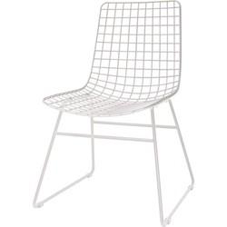 HKliving eetkamerstoel, draadstoel metaal wit 47x54x86cm