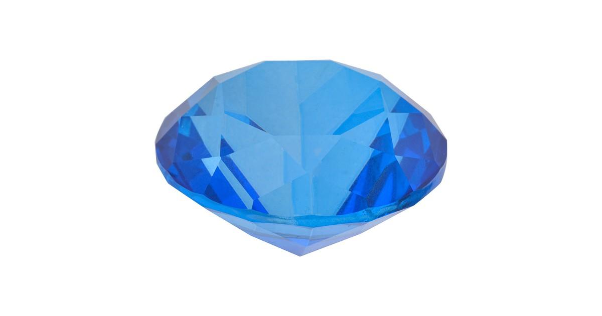 Melady Decoratie Kristal 4 cm Blauw Glas Glazen Kristal