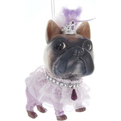 Dog With Sheer Ribbon 5.25 Inch