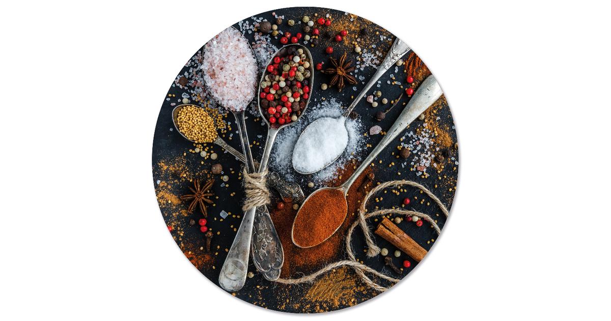 Muurcirkel klein spices - Ø 40 cm