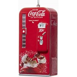Coca-Cola Santa Vending Machine 3.75 Inch