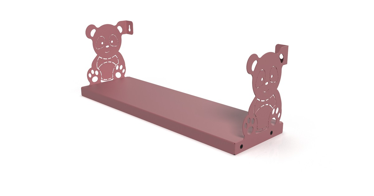 Gorillz Kids Panda- Boekenplank Kinderkamer - Roze