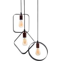 Hanglamp zwart/koper VOMANO