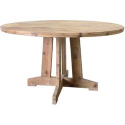 HKliving tafel rond teak hout 140x140x75cm