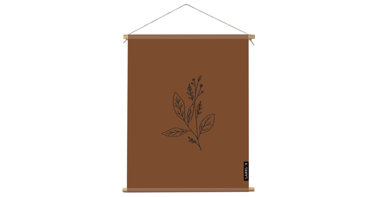 Textielposter binnen wildflower