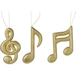Foam muzieknoten glitter l.goud a3